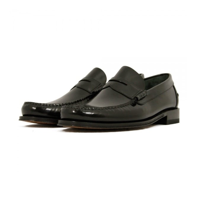 Loake Princeton Black Loafer Shoe