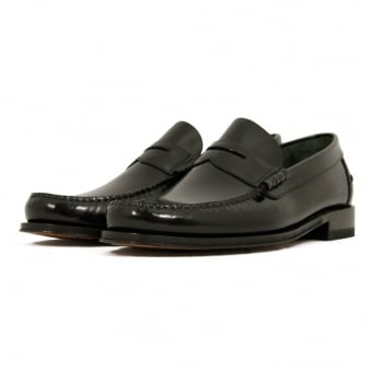 Loake Princeton Black Loafer Shoe