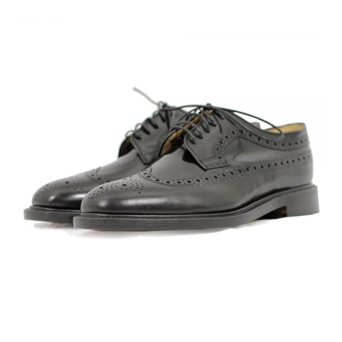 Loake Royal Black Brogue Shoe