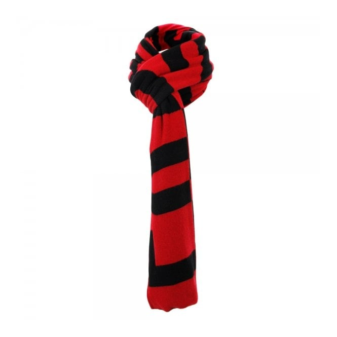 Love Moschino Lettering Knit Wool Red Scarf MSA97