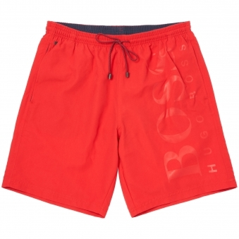 Medium Red Orca Swim Shorts