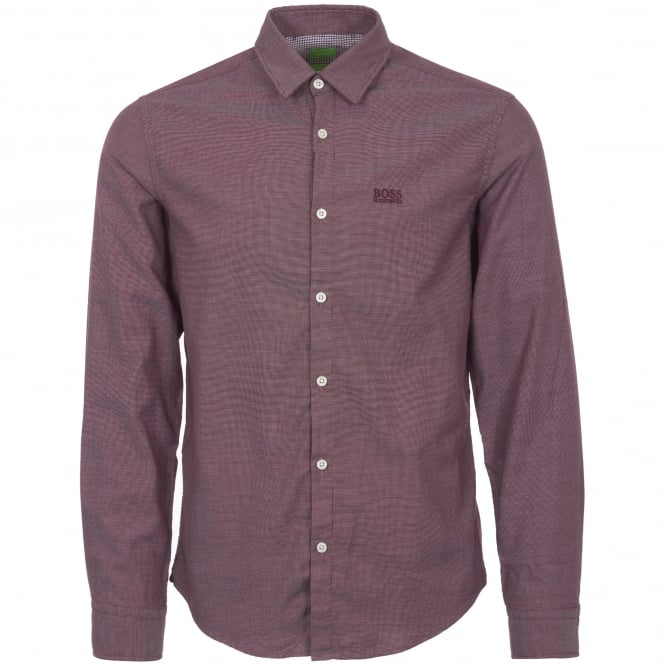 Boss Green Medium Red Oxford Shirt