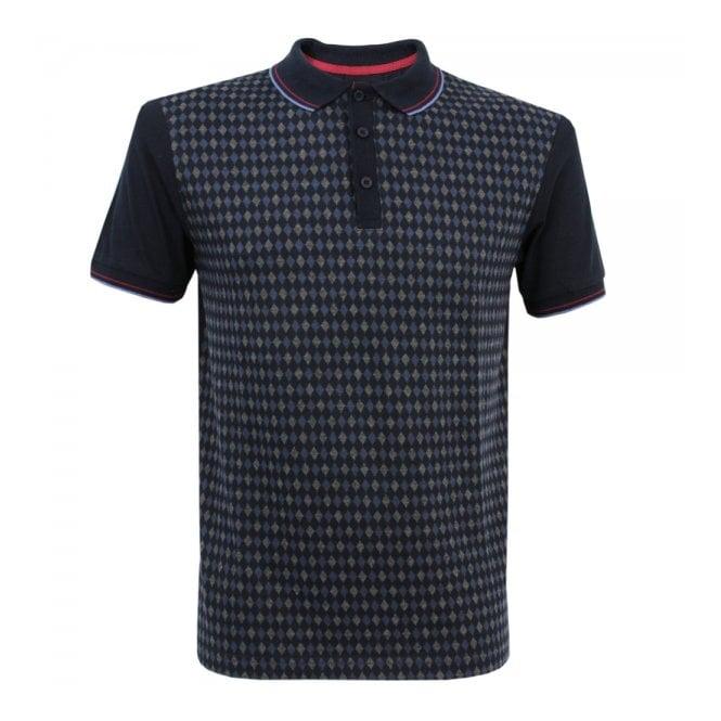 Merc London Ware Diamond Blue Polo Shirt 1914205