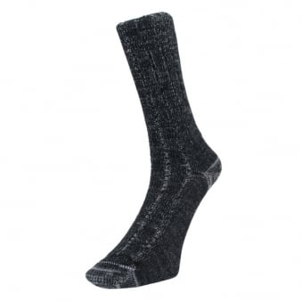 Merz B. Schwanen 2 Thread Black Merino Wool Socks W72