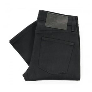 Naked and Famous Black Super Skinny Stretch Denim 013010 | Tapered Leg