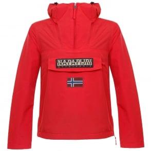 Napapijri Rainforest Summer Bright Red Cagoule Jacket N0YH0BY49