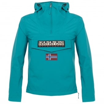 Napapijri Rainforest Summer Caribbean Blue Cagoule Jacket N0YH0BI64