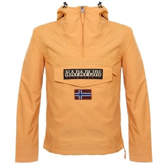Napapijri Rainforest Summer Orange Cagoule Jacket N0YH0BY49