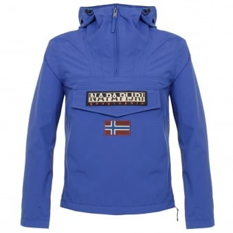 Napapijri Rainforest Summer Palatine Blue Cagoule Jacket N0YHBB06