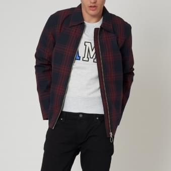 Navy Check Corbyn Jacket