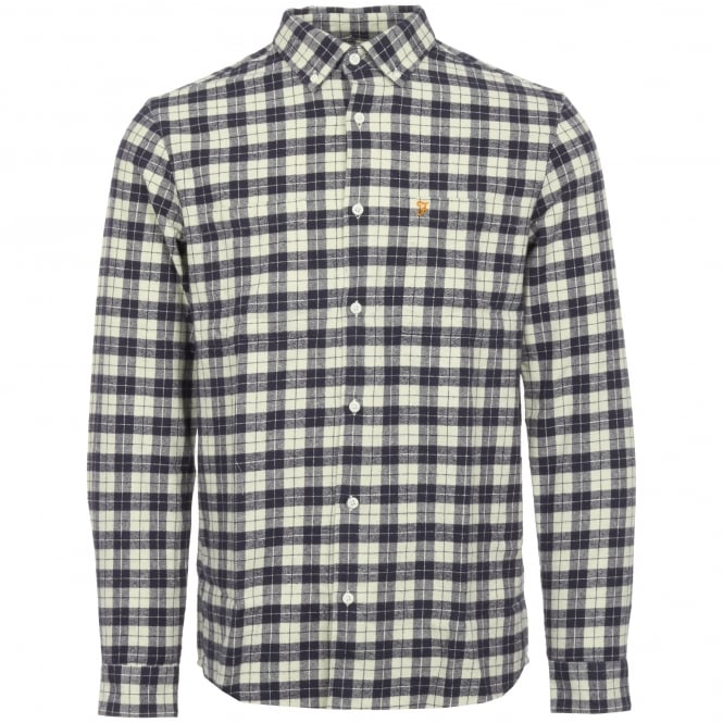 Farah Navy Coleville Brushed Twill Shirt