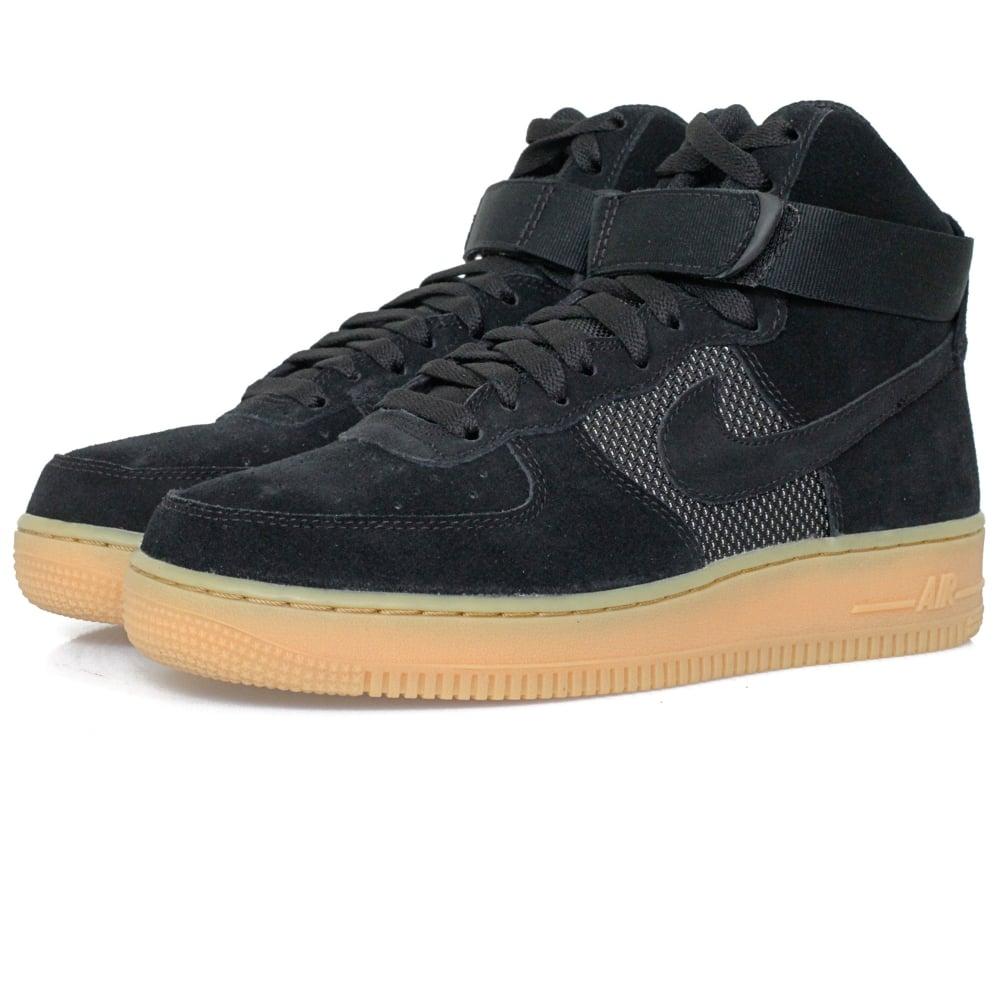 nike air force 1 high 07 lv8 black shoe. Black Bedroom Furniture Sets. Home Design Ideas