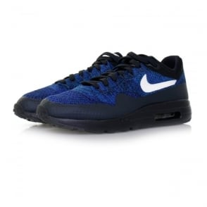 Nike Air Max 1 Flyknit Dark Obsidian White Shoe 843384 401