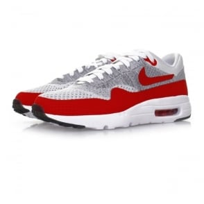 Nike Air Max 1 Flyknit White University Red Shoe 843384 101