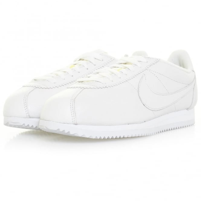 Nike Classic Cortez Premium White Leather Shoe 807480 100