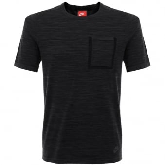 Nike Tech Knit Black Grey Pocket T-Shirt 729397-010