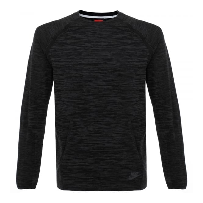 Nike Tech Knit Crew Blaclk LS T-Shirt 728673 010