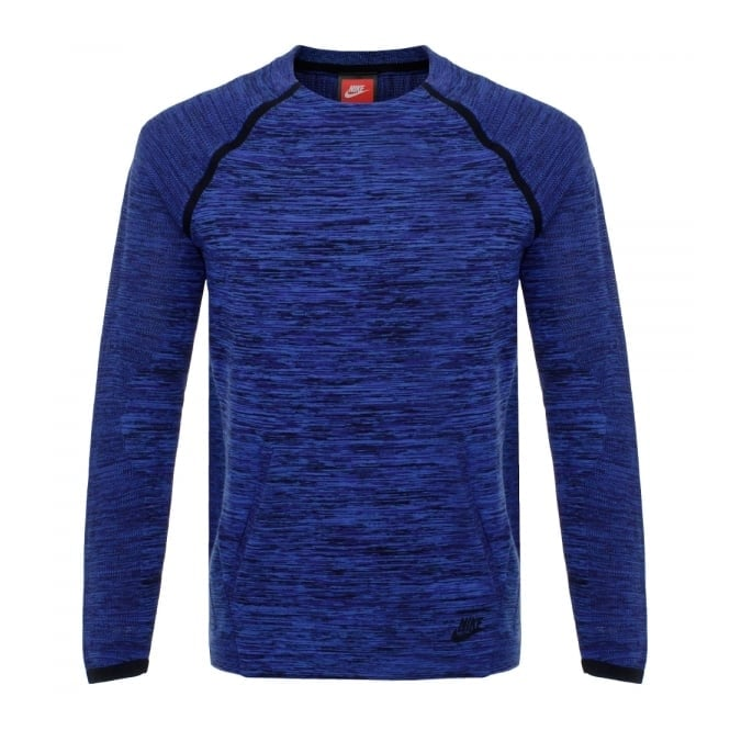 Nike Tech Knit Crew Navy LS T-Shirt 728673 439