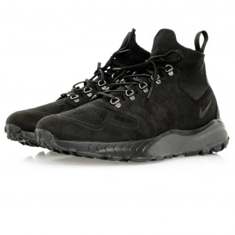 Nike Zoom Talaria Flyknit Mid Black Shoe 856957 001
