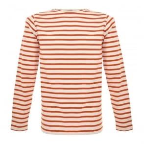 Norse Projects Godtfred Ecru Orange Sweatshirt N10-0083