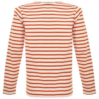 Norse Projects Godtfred Ecru Orange Sweatshirt N10-0083