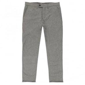 Norse Projects Thomas Slim Grey Melange Wool Trousers N25-0204
