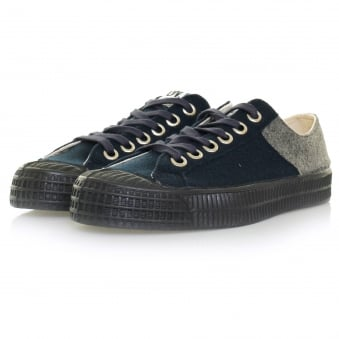 Novesta Footwear  Novesta X Universal Works Star Master Wool Grey Navy Shoe 729337