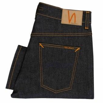 Nudie Jeans Brute Knut Dry Navy Comfort Denim Jeans 112008