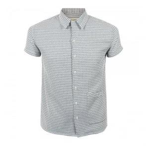 Nudie Jeans Byron Grey Bowling Shirt 140327
