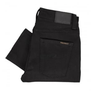 Nudie Jeans Grim Tim Black Ring Denim Jeans 111239