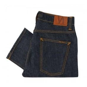 Nudie Jeans Grim Tim Organic Dry Navy Jeans SKU 111304