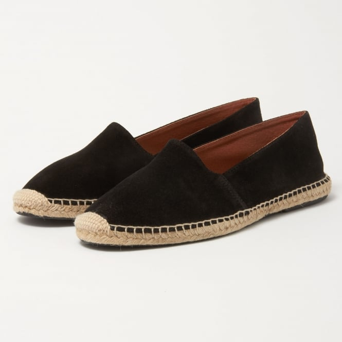 OBIstudio Obi Studio Apolo Black Split Leather Espadrille 1001002