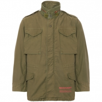 Olive Upcycled US Army M65 Jacket