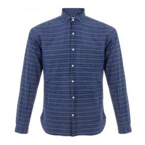 Oliver Spencer Eton Bradley Blue Shirt OSS69B