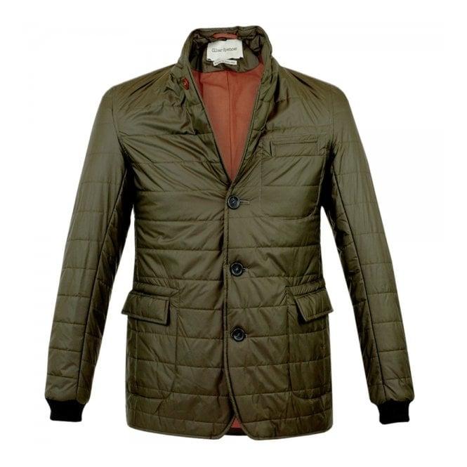 Oliver Spencer Lanark Green Quilt Jacket OSJ258