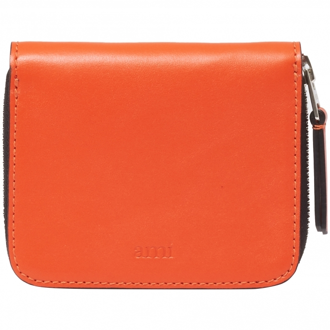 AMI Orange Zipped Wallet