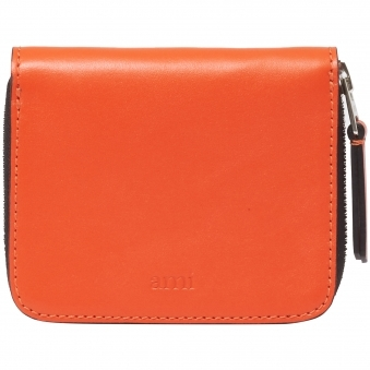 Orange Zipped Wallet