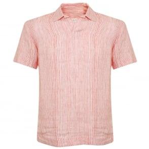 Orlebar Brown Patrick Stripe Iris Linen Shirt 264602