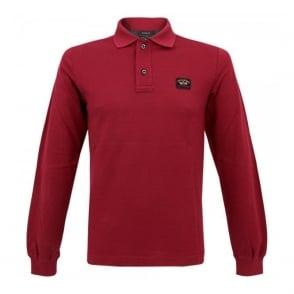 Paul and Shark Deep Red Pique Polo Shirt I14P1003SF