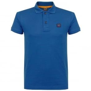 Paul And Shark Pique Blue Polo Shirt E17P1033SE