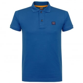 Paul And Shark Pique Blue Polo Shirt E17P1033SE