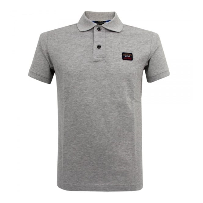 Paul and Shark Yachting Paul and Shark Pique Grey Polo Top E14P0055SF