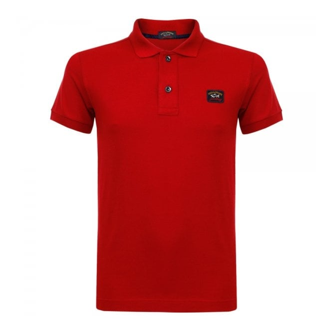 Paul and Shark Yachting Paul and Shark Pique Red Polo Shirt I15P1000