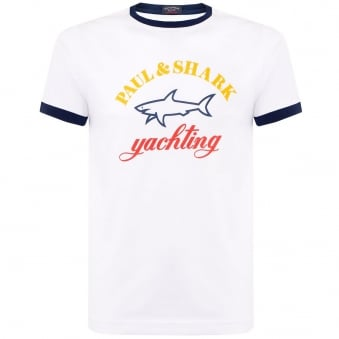 Paul and Shark White T-Shirt C1P11104SFI