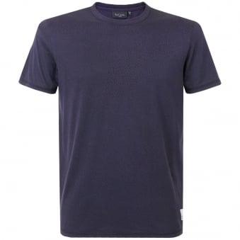 Paul Smith Printed Short Sleeve Navy T-Shirt JNFJ-171P-B52