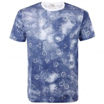 Paul Smith Prism Indigo T-Shirt JLCJ-5501-P7336