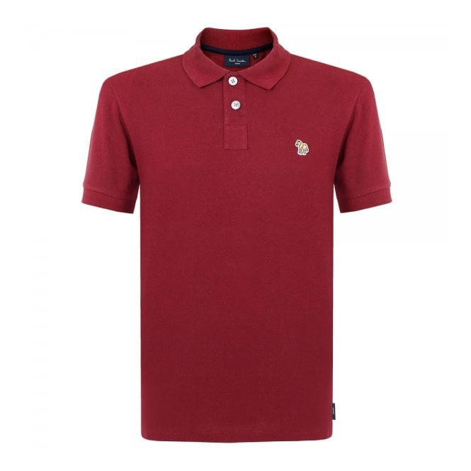 PS By Paul Smith Paul Smith Zebra Logo Burgundy Polo Shirt JNFJ-183K-B46Z