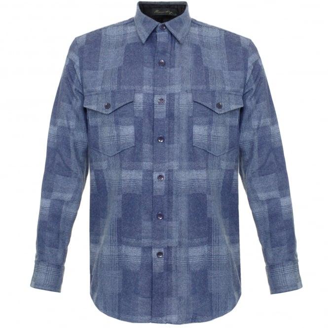 Pendleton Woolen Mills Pendleton Boro Blue Virgin Wool Shirt AA552-31865