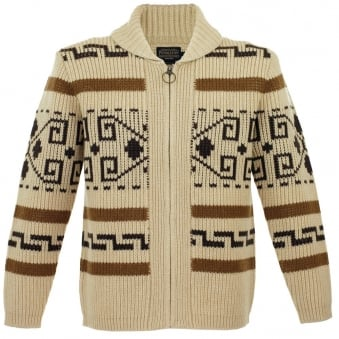 "Pendleton Original Westerley ""The Dude"" Tan Wool Cardigan AF689-63897"
