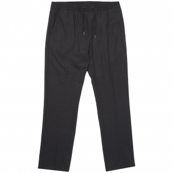 Perfect Black Wool Flannel Trousers